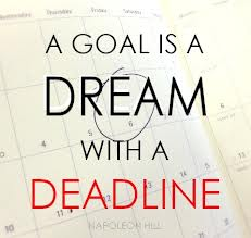 """Una meta es un sueño con fecha de entrega."" ~Napoleon Hill Credit: www.pinterest.com"