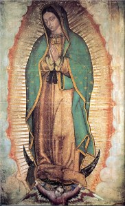 The Virgen of Guadalupe  credit: www.santos-catolicos.com